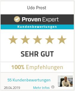 Proven Expert Bewertung Udo Prost